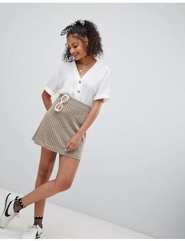 nobodys-child-mini-skirt-in-vintage-check by nobodys-child