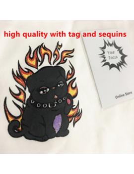 2018-nightmare-cute-dog-cropped-unif-white-red-block-t-shirt-harajuku-t-shirt-fire-t-shirts-cute-crop-top-women- by yourfocus