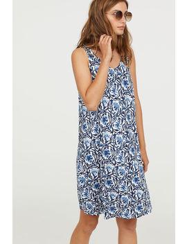 trapezowa-sukienka-z-dżerseju by h&m