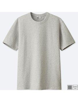 Men Uniqlo U 100% Cotton Crew Neck Short Sleeve T Shirt by Uniqlo