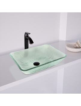 Vigo Rectangular Icicles Glass Vessel Bathroom Sink by Vigo Industries