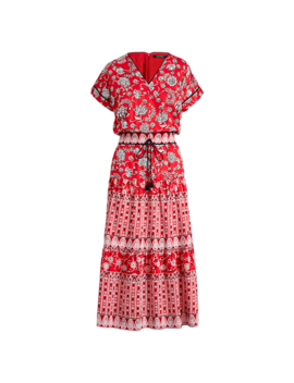 Print Sateen Dress by Ralph Lauren