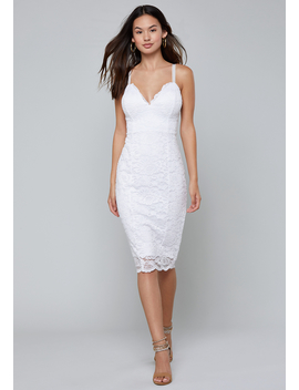 Scallop Midi Dress by Bebe