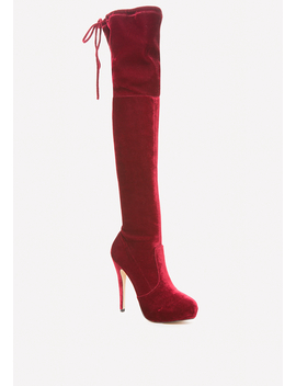 Velvet Over The Knee Boots by Bebe
