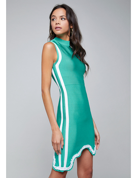 Scallop Bandage Dress by Bebe