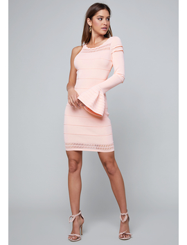 Hannah One Sleeve Dress by Bebe