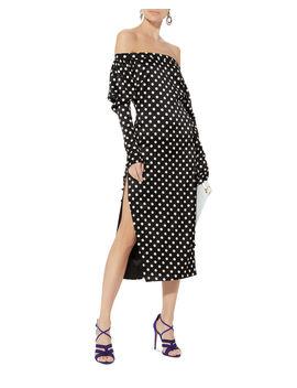 Dania Off Shoulder Polka Dot Dress by Caroline Constas