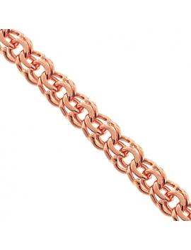 Handmade 14 K Rose Gold Russian Bismark Mens Chain 7 Mm by 24diamonds