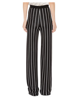 High Waist Striped Pants by Balmain