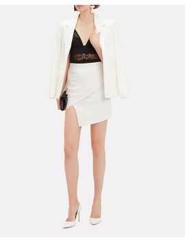 White Wrap Skirt by Michelle Mason