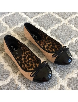 Mia Quilted Flats Animal Print Interior Size 7 by Mia