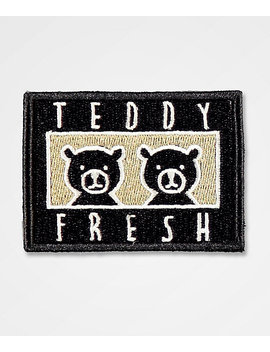 Teddy Fresh Two Teds Black &Amp; White Patch by Teddy Fresh Inc