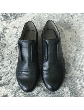 Levity Black Leather Oxford Flats Loafers 7 by Poshmark