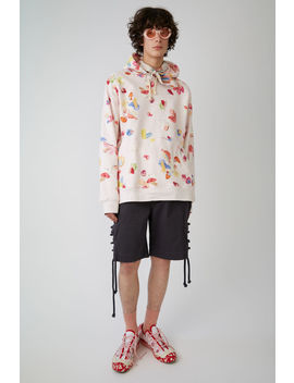 Hooded Sweatshirt Light Pink / Multi Print by Acne Studios