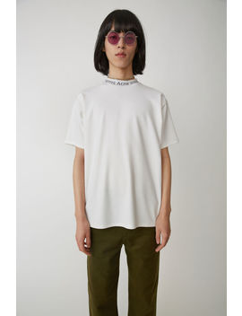 Logo Crewneck Optic White by Acne Studios
