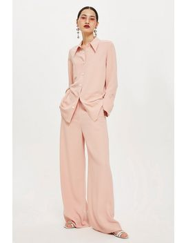 High Waist Wide Leg Trousers by Topshop