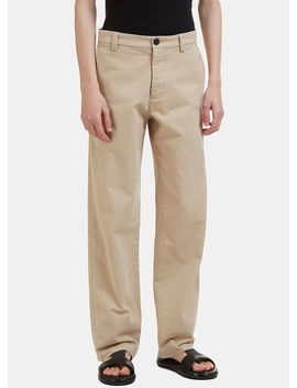 Straight Leg Chino Pants In Beige by Jw Anderson