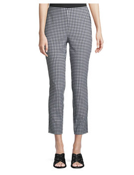 Simone Cropped Gingham Pants by Rag & Bone