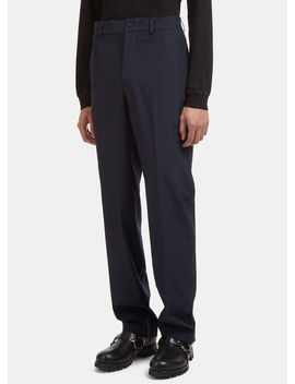 Tailored Pants In Navy by Mackintosh 0002