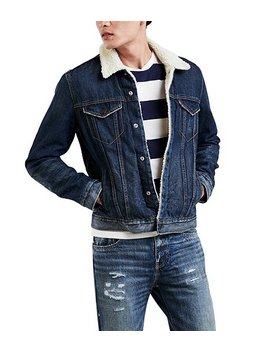 Levi's Denim Jacket Trucker Lucky Town Sherpa by Levi's