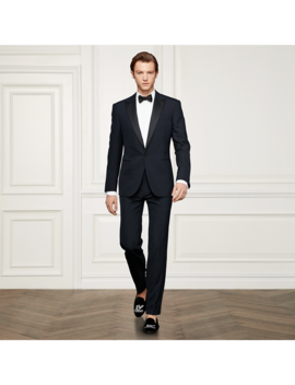 Navy Peak Lapel Tuxedo by Ralph Lauren