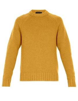Crew Neck Wool Sweater by Prada