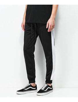 Empyre Caples Black &Amp; White Track Pants by Empyre