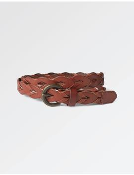 Jemma Braid Leather Belt by Fat Face