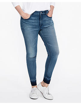 High Waisted Stretch+ Perfect Curves Jean Ankle Leggings by Express