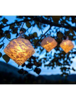 White Diamond Solar String Lights by Pottery Barn