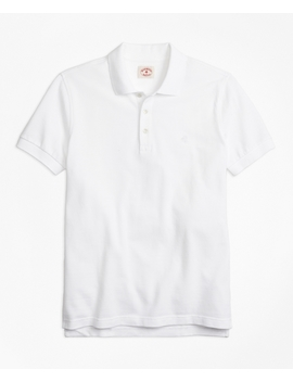 Garment Dyed Cotton Pique Polo Shirt by Brooks Brothers