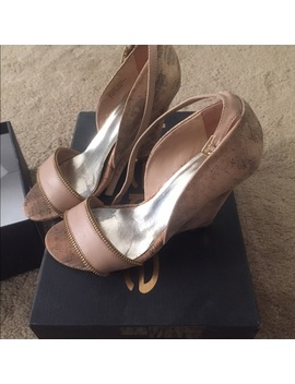 Bebe Strap Wedges Size 7 by Bebe
