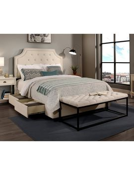 Republic Design House Audrey Ivory Tufted Upholstered Queen Bedroom Collection With Flat Bench Option by Republic Design House