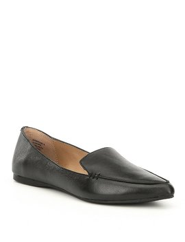 Feather Leather Loafers by Generic