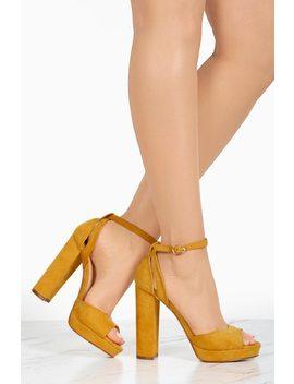 Cosmopolitan   Mustard by Lola Shoetique