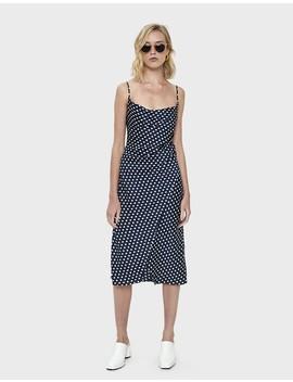 Jezzi Polka Dot Slip Dress by Farrow