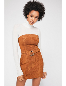 Bet On It Suede Mini Dress by Free People