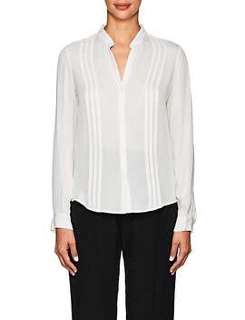 Amalea Pintucked Silk Blouse by L'agence