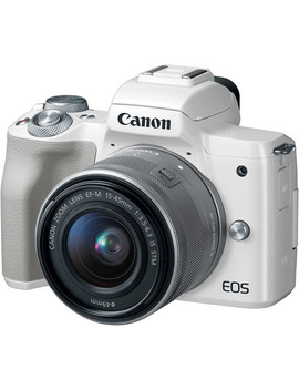 Eos M50 Mirrorless Digital Camera With 15 45mm Lens (White) by Canon