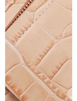 Lubo Croc Effect Leather Belt Bag by Nanushka