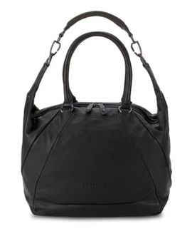 Abbey Leather Shoulder Bag by Calvin Klein