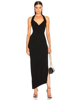 Halter Sweetheart Side Drape Gown by Norma Kamali
