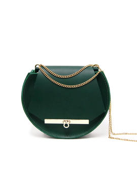 Loel Mini Chain Bag In Emerald Green by Angela Valentine Handbags