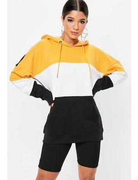 Black Colourblock Oversized Hoodie by Missguided