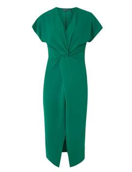 **Tall Emerald Knot Front Shift Dress by Dorothy Perkins