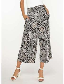 **Tall Multi Coloured Tile Print Culottes by Dorothy Perkins
