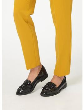 Black Patent 'Lotta' Loafers by Dorothy Perkins