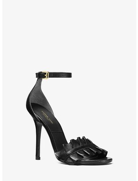 Priscilla Leather Sandal by Michael Kors Collection