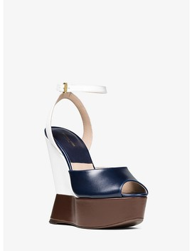 Marilyn Color Block Leather Wedge by Michael Kors Collection