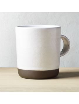 Black Clay Large Mug by Crate&Barrel